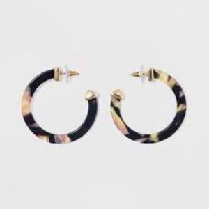 SUGARFIX by BaSubleBar Classic Resin Hoop Earrings